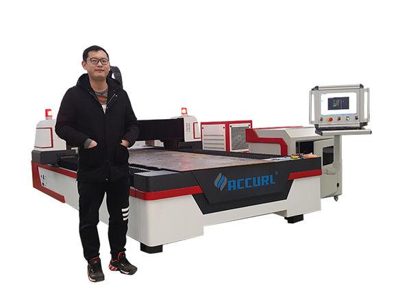 lineaarse juhtseadmega cnc lasertorude lõikamise masin vask / titaan