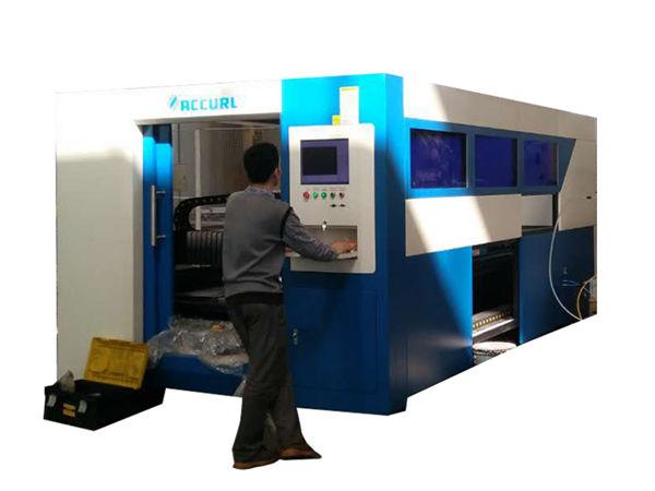2kw fiiberoptiline laserlõikusmasin, metalltoru jaoks reguleeritav kiirus